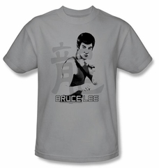 Bruce Lee Kids T-shirt Youth Punch Silver