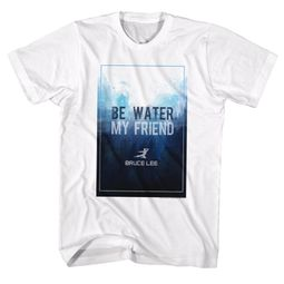 Bruce Lee Shirt Be Water My Friend White T-Shirt
