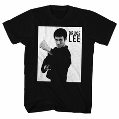 Bruce Lee Shirt Black And White Photo Black T-Shirt