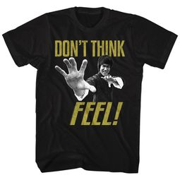 Bruce Lee Shirt Don't Think Feel Black T-Shirt