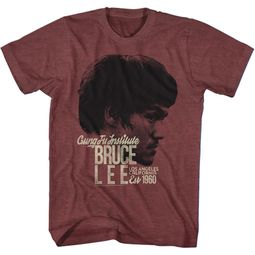 Bruce Lee Shirt EST 1960 Maroon T-Shirt