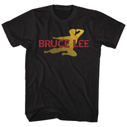 Bruce Lee Shirt Flying Man Black T-Shirt