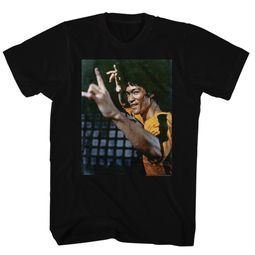 Bruce Lee Shirt Gold Jumpsuit Black T-Shirt