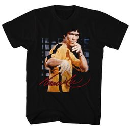 Bruce Lee Shirt Gold Jumpsuit Photo Black T-Shirt