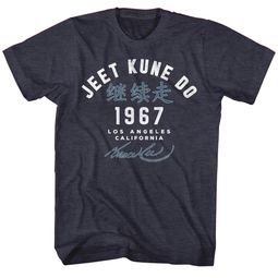 Bruce Lee Shirt Jeet Kune Do Academy Heather Blue T-Shirt