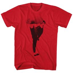 Bruce Lee Shirt Kick ! Red T-Shirt