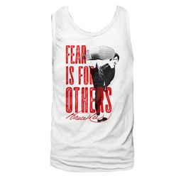 Bruce Lee Shirt Tank Top No Fear White Tanktop