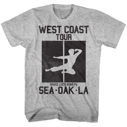 Bruce Lee Shirt West Coast Tour Athletic Heather T-Shirt