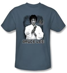 Bruce Lee T-Shirt Adult Concentrate Slate Blue