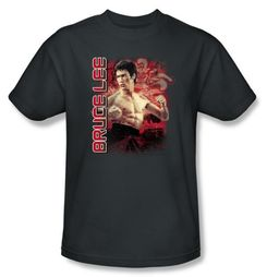 Bruce Lee T-shirt Adult Fury Charcoal
