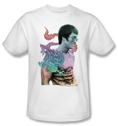 Bruce Lee T-shirt Adult Little Bruce White