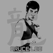 Bruce Lee T-shirt Adult Punch Silver