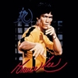 Bruce Lee T-shirt Adult Yellow Jumpsuit Black