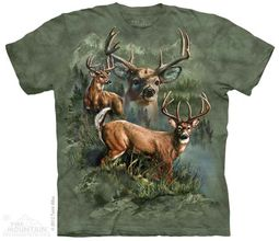 Buck Collage Shirt Tie Dye Adult T-Shirt Tee