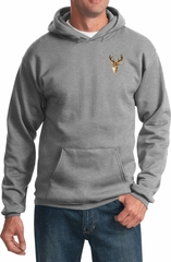 Buck Deer Patch Pocket Print Hoodie