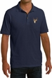 Buck Deer Patch Pocket Print Mens Pique Polo