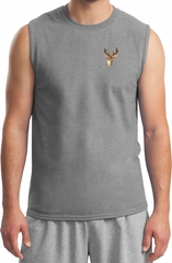 Buck Deer Patch Pocket Print Muscle Shirt