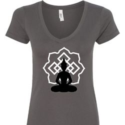 Buddha Lotus Pose Ladies Shirts