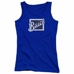 Buick Juniors Tank Top Distressed Emblen Royal Blue Tanktop