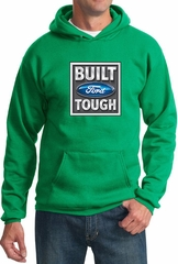 Built Ford Tough Hoodie Ford Logo Mens Kelly Green Hoody