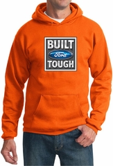 Built Ford Tough Hoodie Ford Logo Mens Orange Hoody