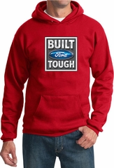 Built Ford Tough Hoodie Ford Logo Mens Red Hoody