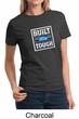 Built Ford Tough Shirt Ford Logo Ladies Tee T-Shirt