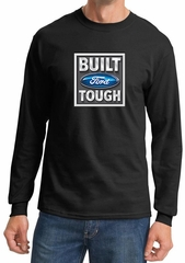 Built Ford Tough Shirt Ford Logo Mens Black Long Sleeve Tee T-Shirt