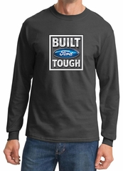 Built Ford Tough Shirt Ford Logo Mens Charcoal Long Sleeve Tee T-Shirt