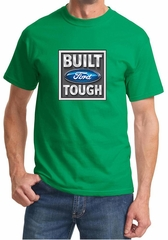 Built Ford Tough Shirt Ford Logo Mens Kelly Green Tee T-Shirt