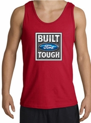 Built Ford Tough Tanktop Logo Mens Red Tank Top