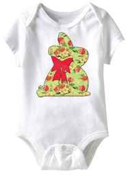Bunny Stitch Funny Baby Romper White Infant Babies Creeper