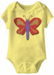 Butterfly Funny Baby Romper Yellow Infant Babies Creeper