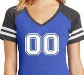 Buy Cool Shirts Ladies Double Zeroes V-Neck Sporty Tee Shirt