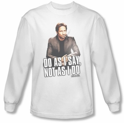 Californication Shirt Do As I Say White Long Sleeve T-Shirt Tee