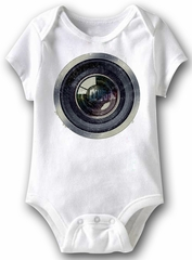 Camera Lens Funny Baby Romper White Infant Babies Creeper