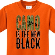 Camo is the New Black Kids Shirts