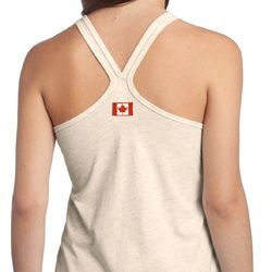 Canada Flag Patch Back Print Shirts