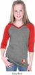 Canada Flag Patch Bottom Print Girls V-neck Raglan