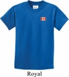 Canada Flag Patch Pocket Print Kids T-shirt