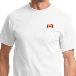 Canada Flag Patch Pocket Print Shirts