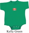 Canada Flag Patch Small Print Baby Romper
