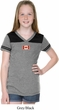 Canada Flag Patch Small Print Girls Football Tee