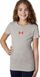 Canada Flag Patch Small Print Girls T-shirt