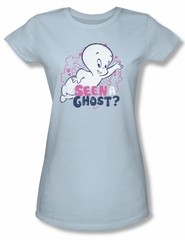 Casper The Friendly Ghost Shirt Juniors Seen A Ghost Light Blue Tee