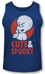 Casper The Friendly Ghost Tank Top Spooky Royal Blue Tanktop