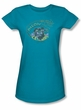 Catwoman Juniors T-shirt - Meow Catwoman Turquoise Tee