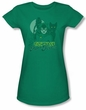 Catwoman Juniors T-shirt - Perrfect! Kelly Green Tee