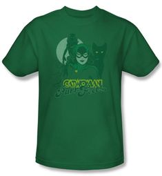 Catwoman Kids T-shirt Perrfect Kelly Green Tee Youth