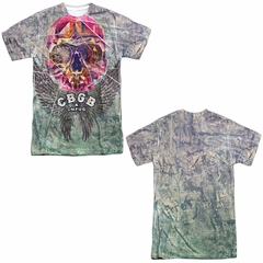 CBGB Shirt Graffiti Skull Sublimation Shirt Front/Back Print